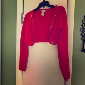 Vintage Blood Orange Shrug